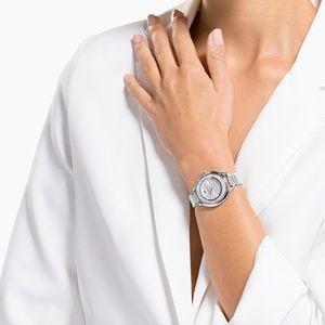 Swarovski Crystal Stainless Steel Silver Watch